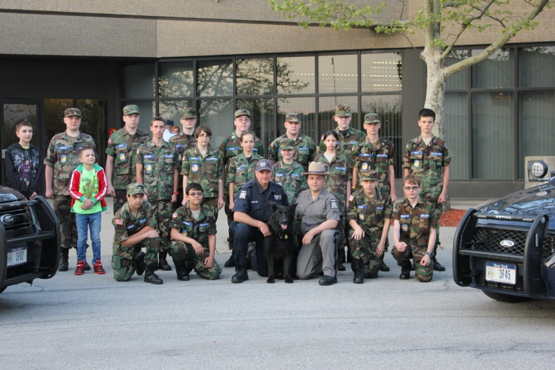 K-9 Team from NY State Police visit Squadron