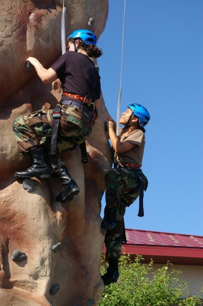 Climbing wall at encampment 2015